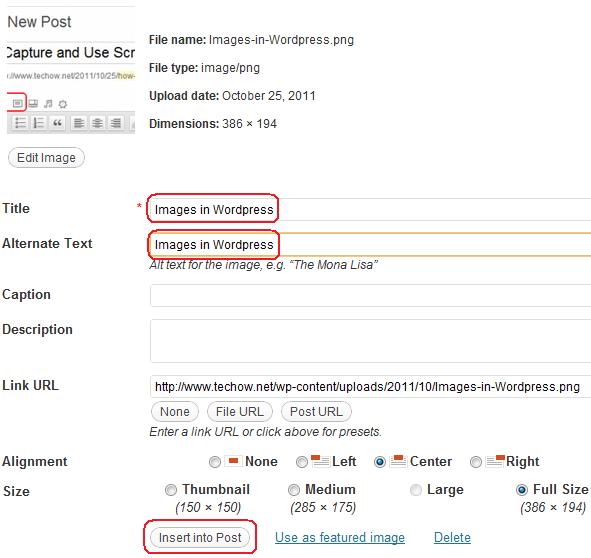 Adding Images to WordPress