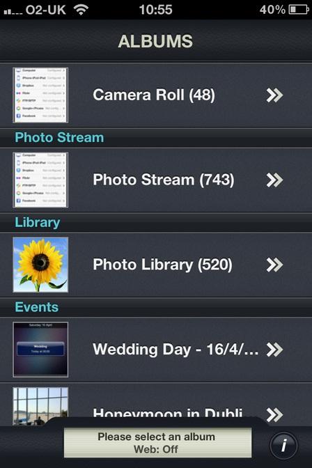 PhotoSync App iPhone iPad iPod Touch