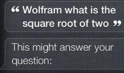 Siri Wolfram Alpha