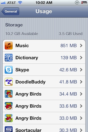 check-how-much-space-app-uses-ios-5
