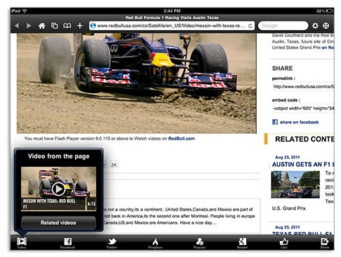 iPad Skyfire Browser