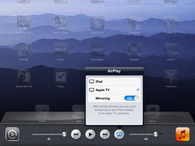 iOS 5 AirPlay mirroring for FaceTime