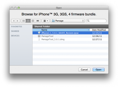 PwnageTool Untethered Jailbreak for iPhone 3GS