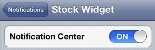 Stock Ticker Widget  Notification Center
