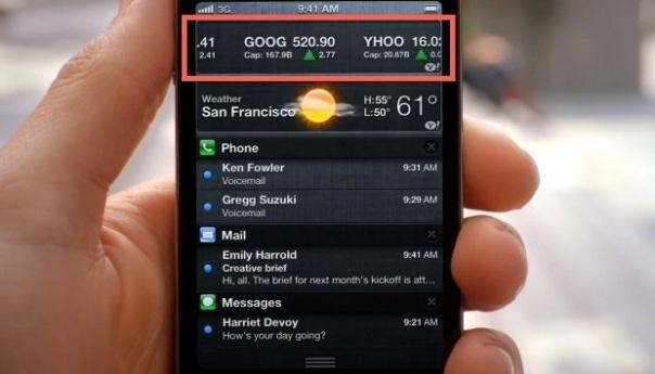Remove Stock Ticker Widget From iOS 5 Notification Center