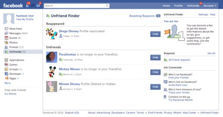 unfriend finder alerts