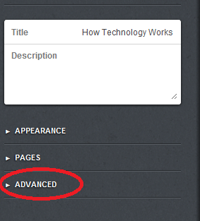 Advance Settings Tumblr
