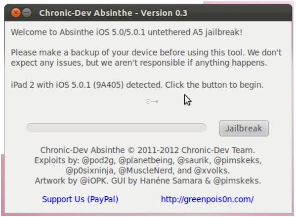 Absinthe Jailbreak Linux