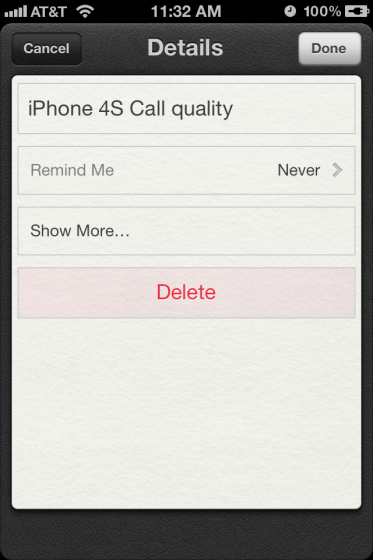Reminders List in iOS 5