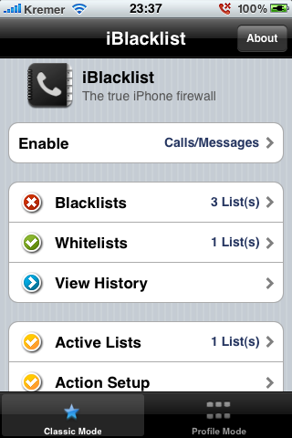 iPhone iBlacklist