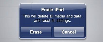 Reformat iPad