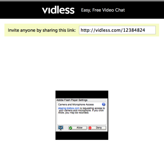 Video Chat With Vidless