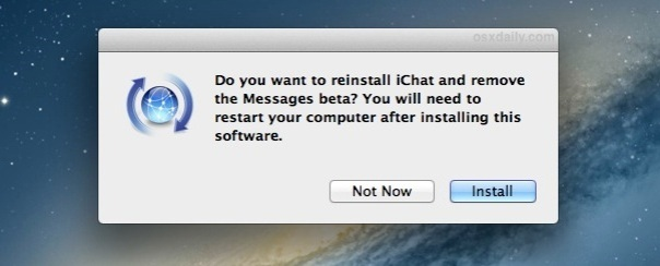 einstall-ichat-remove-messages-beta