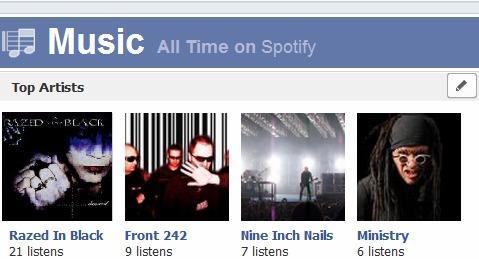 Facebook Timeline Music