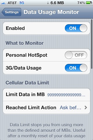 Data-Usage-Monitor iPhone