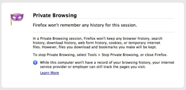 Private Browsing Session In Firefox